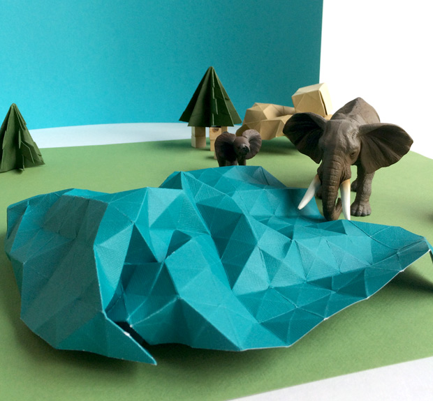 Paper origami and animal toys were the design elements of our St. Louis Zoo Annual Report Design