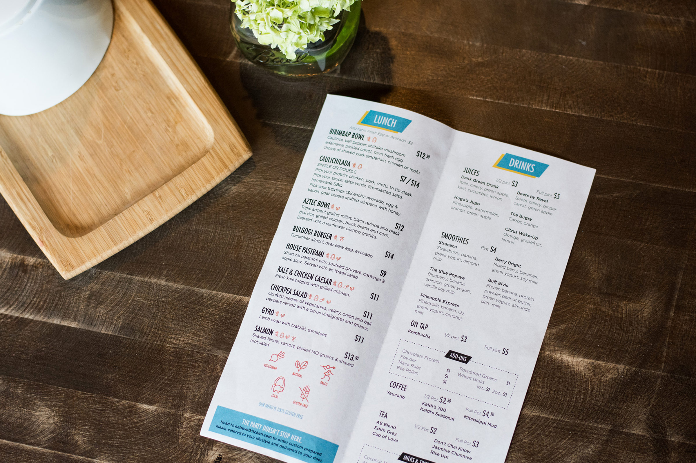 Revel Kitchen Branding-Menu Design