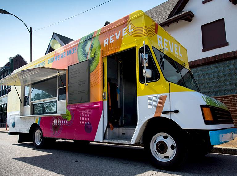 Revel Kitchen Branding on a Food Truck