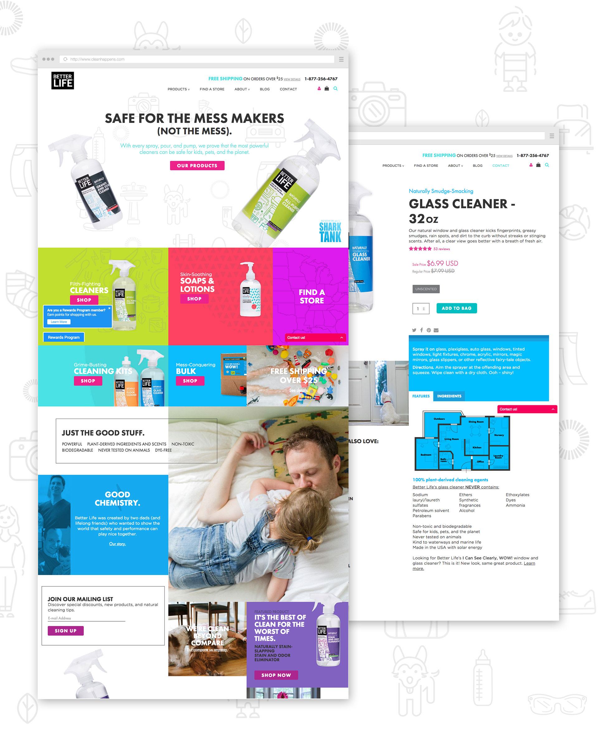 Better Life Website Design