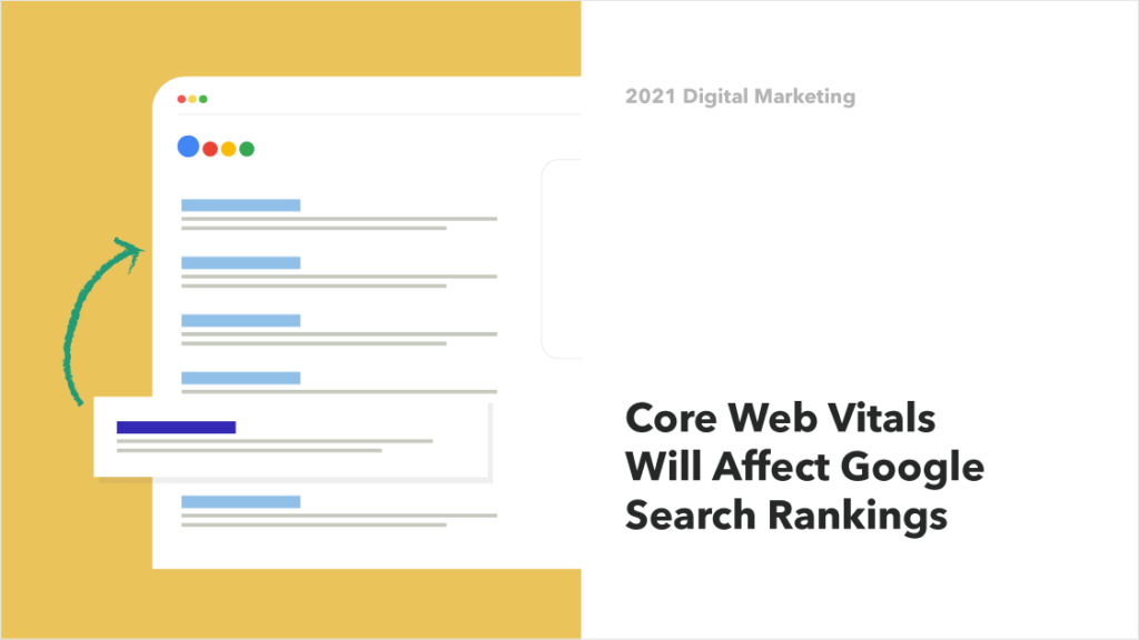 Illustration of Google's Core Web vitals, which will change how websites rank in search results